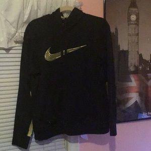 Nike Yellow & Black Thermafit Hoodie